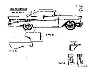 1955 Chevy Sheet Metal Replacement Parts