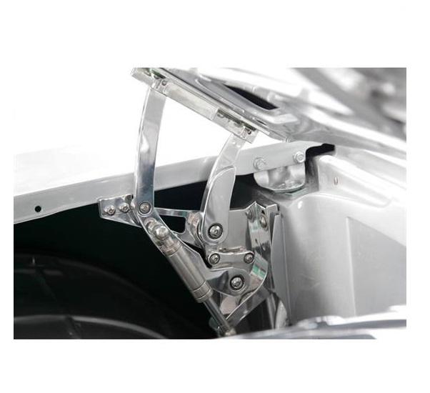 EMS HOOD BRACE SUPPORTS /'57 CHEVY POLISHED MS274-37P
