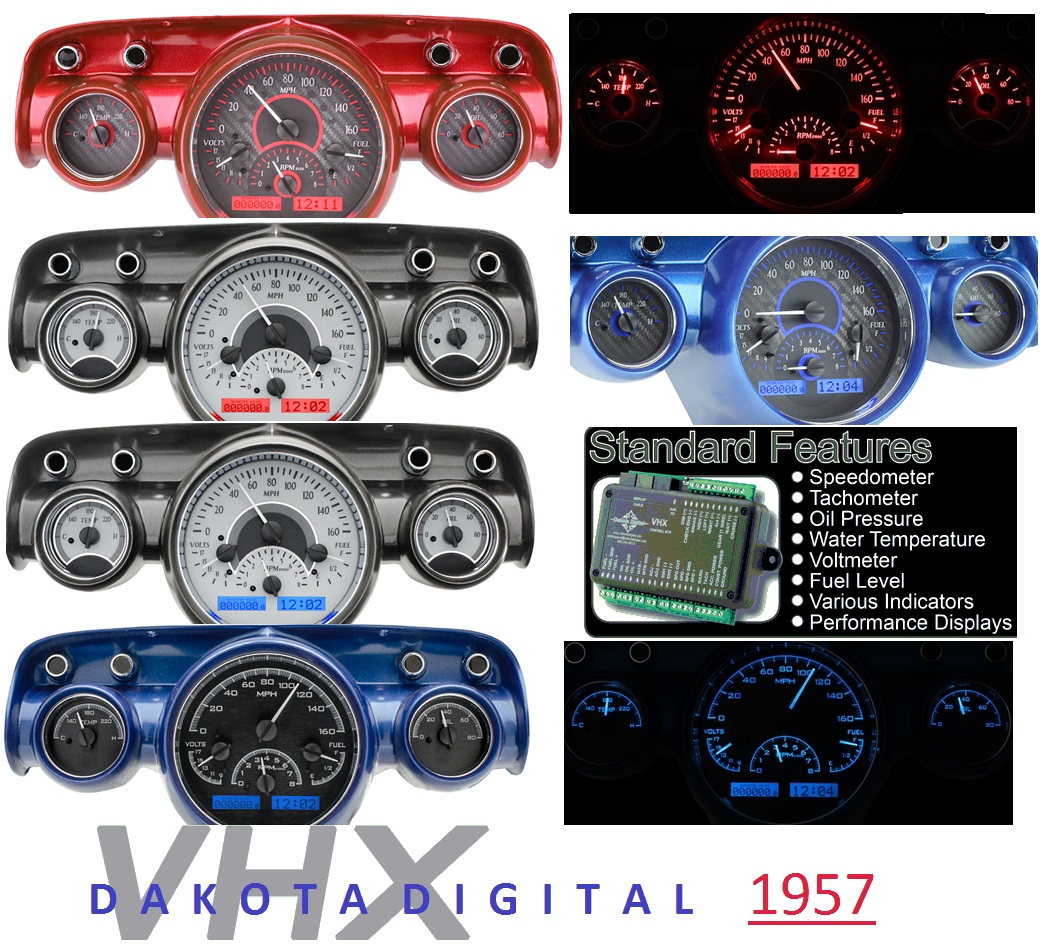 New Parts 1957 Chevy Bel Air Fuse Box Location Dakota Digital Gauges